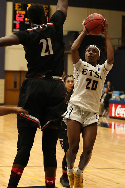 November 10, 2017 - Johnson City, Tennessee - Brooks Gym: ETSU guard Erica Haynes-Overton (20)<br /> <br /> Image Credit: Dakota Hamilton/ETSU