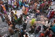An aerial shot of Vanakbara Fish Market