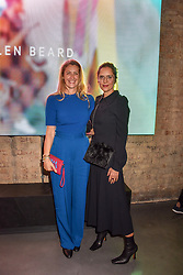 Left to right, Georgina Cohen and Suzy Murphy at a VIP private view of 21st Century Women held at Unit London, Hanover Square, London England. 03 October 2018.