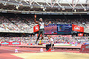 Jean Baptiste FRA in the Long Jump Men T42/44 during the Muller Anniversary Games at the Stadium, Queen Elizabeth Olympic Park, London, United Kingdom on 23 July 2016. Photo by Phil Duncan.