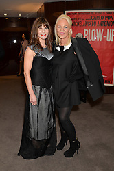 "Left to right, JUSTINE FRANCESCA GLENTON and AMANDA ELIASCH at a private screening Of ""The Gun, The Cake and The Butterfly"" hosted by Amanda Eliasch at The Bulgari Hotel, 171 Knightsbridge, London on 24th March 2014."