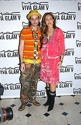 ROCKY MAZZILLI and TATUM MAZZILLI at a party to celebrate Pamela Anderson's new role as spokesperson and newest face of the MAC Aids Fund's Viva Glam V Campaign held at Home House, Portman Square, London on 21st April 2005.<br />