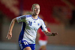 LLANELLI, WALES - Thursday, August 22, 2013: Finland's Ella-Rosa Huusko in action against Norway during the Group B match of the UEFA Women's Under-19 Championship Wales 2013 tournament at Parc y Scarlets. (Pic by David Rawcliffe/Propaganda)