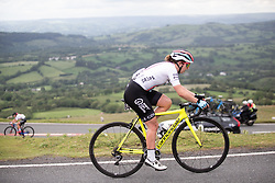 Manon Lloyd (GBR) of Drops Cycling Team climbs on Black Mountain on Stage 6 of 2019 OVO Women's Tour, a 125.9 km road race from Carmarthen to Pembrey, United Kingdom on June 15, 2019. Photo by Balint Hamvas/velofocus.com