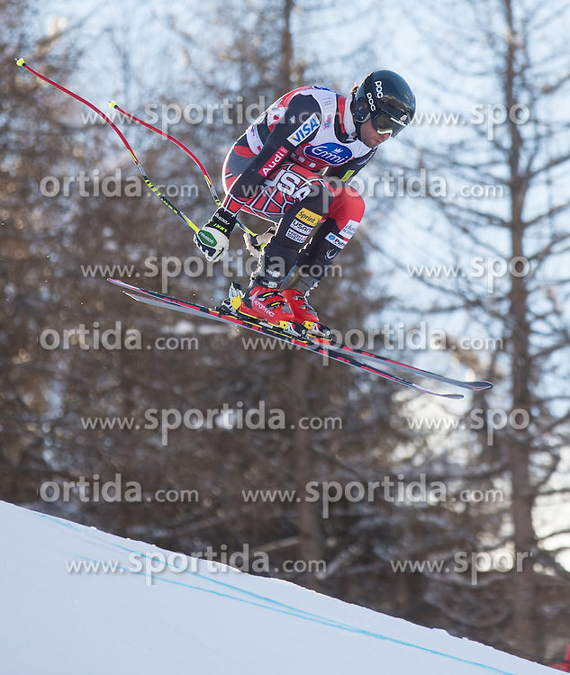 28.12.2013, Stelvio, Bormio, ITA, FIS Ski Weltcup, Bormio, Abfahrt, Herren, 2. Traininglauf, im Bild Nick Daniels (USA) // Nick Daniels of the USA in action during mens 2nd downhill practice of the Bormio FIS Ski Alpine World Cup at the Stelvio Course in Bormio, Italy on 2012/12/28. EXPA Pictures © 2013, PhotoCredit: EXPA/ Johann Groder