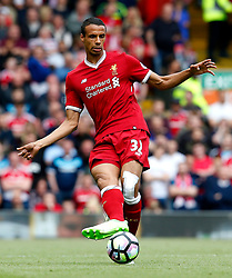 Joel Matip of Liverpool wears the new Liverpool home strip  - Mandatory by-line: Matt McNulty/JMP - 21/05/2017 - FOOTBALL - Anfield - Liverpool, England - Liverpool v Middlesbrough - Premier League