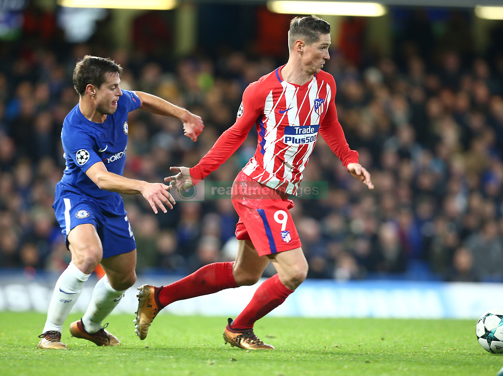 December 5, 2017 - London, England, United Kingdom - Fernando Torres of Atletico Madrid ..during the Champions  League Group C  match between Chelsea and Atlético Madrid at Stamford Bridge, London, England on 5 Dec   2017. (Credit Image: © Kieran Galvin/NurPhoto via ZUMA Press)