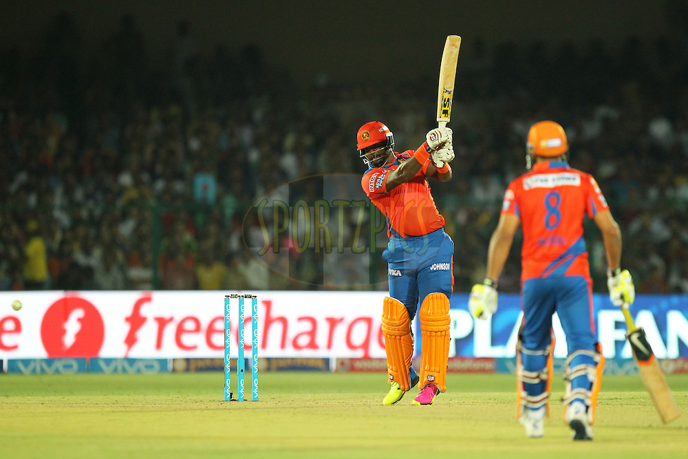 Dwayne Smith of Gujrat Lions in action during match 54 of the Vivo Indian Premier League 2016 ( IPL ) between the Gujarat Lions and the Mumbai Indians held at The Green Park, Stadium in Kanpur, India on the 21st  May 2016Photo by Prashant Bhoot / IPL/ SPORTZPICS