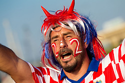 Fans of Croatia prior to the UEFA EURO 2012 group C match between  Croatia and Spain at PGE Arena Gdansk on June 18, 2012 in Gdansk / Danzig, Poland. (Photo by Vid Ponikvar / Sportida.com)