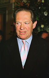 MR PETER JAY the writer and broadcaster, at a party in London on 5th May 1999.MRT 52