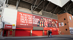 LIVERPOOL, ENGLAND - Tuesday, March 17, 2020: A view of a near deserted Anfield, home of Champions-elect Liverpool Football Club, after the suspension of all football due to the Coronavirus (COVID-19) and Liverpool's decision to close it's Boot Room cafe and official stores. (Pic by David Rawcliffe/Propaganda)