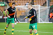 Norwich City midfielder Tom Trybull (19) warming up before the The FA Cup 3rd round match between Norwich City and Portsmouth at Carrow Road, Norwich, England on 5 January 2019.