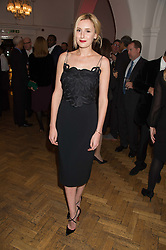 LAURA CARMICHAEL at a gala dinner to celebrate 15 Years of mothers2mothers hosted by Annie Lennox held at One Marylebone, 1 Marylebone Road, London NW1on 3rd November 2015.