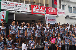 May 1, 2019 - Vitoria, Espirito Santo, Brazil - People take part the May Day celebrations in Vitoria,  State Espirito Santo, Brazil, on May 1, 2019. (Credit Image: © Gilson Borba/NurPhoto via ZUMA Press)