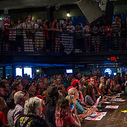 Donald Trump Jr. addresses the standing room only crowd at a campaign rally for Ron DeSantis for Governor at B.B. King's Blues Club in Orlando, Fla., Wednesday, July 18, 2018. (Photo by Willie J. Allen Jr. for The Washington Post)