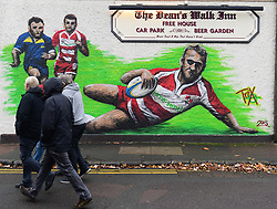 Fans walk to the match  - Mandatory by-line: Alex Davidson/JMP - 02/12/2017 - RUGBY - Kingsholm - Gloucester, England - Gloucester Rugby v London Irish - Aviva Premiership