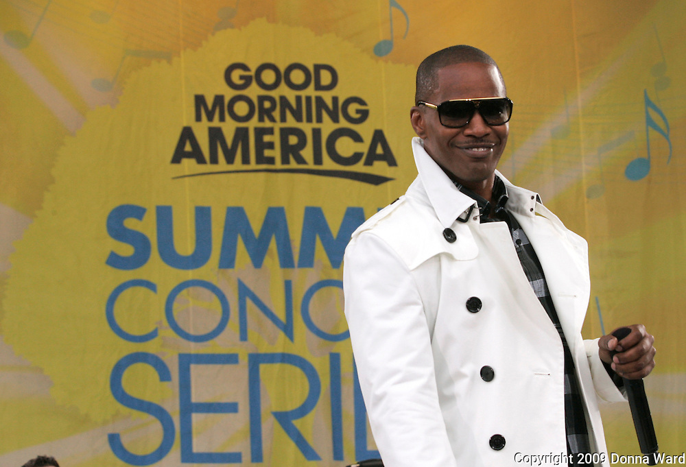 Singer Jamie Foxx performs on ABC's 'Good Morning America' concert series at Central Park's Rumsey Playfield in New York City, USA on June 19, 2009.
