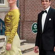 NLD/Apeldoorn/20070901 - Viering 40ste verjaardag Prins Willem Alexander, aankomst Carolina en martin Zorrequieta