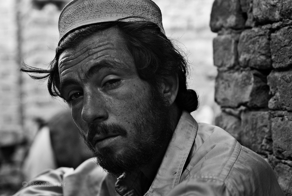 A heroin addict leans against a wall for support after injecting heroin...In the frontier town of Peshawar, a gram of heroin sells for 100 rupees, little more than a dollar. Most addicts smoke or ?chase the dragon?, some inject but the inaccessibility of syringes dictate most addicts smoke the drug...Opium can be found in its pure form, fresh from record harvests in Afghanistan. Most is processed into heroin in the many factories along the Afghan / Pakistan borer, but some is retained, especially in the tribal province, for ?traditional medicinal? purposes such as bile din tea for curing arthritis and flu symptoms....