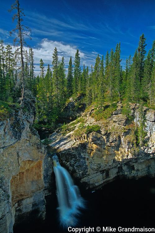 McNallie Creek Falls on the Waterfalls Route (Highway) (Mackenzie Highway)<br /> near Enterprise<br /> Northwest Territories<br /> Canada