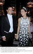Eleanor Legge-Bourke ( wearing Catherine Walker dress ) and her escort Gil Pereira de Lima. Crillon Hotel Debutante Ball. 28 November 1999.<br />© Copyright Photograph by Dafydd Jones 66 Stockwell Park Rd. London SW9 0DA Tel 0171 733 0108