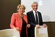 Rome may 9th 2016, INPS (national institution for social security) press conference on contributory tax evasion. In the picture Gabriella Di Michele, Tito Boeri