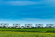 Newly built identical holiday homes at Liscannor in County Clare, West Coast of Ireland