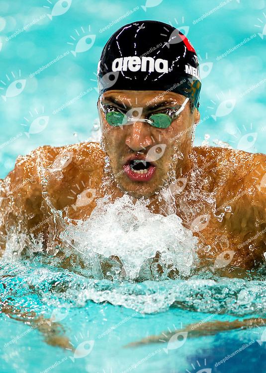 Oussama Mellouli Tunisia<br /> 400 Individual Medley Men<br /> FINA Swimming World Cup 2013<br /> Dubai 16 - 18 October 2013<br /> Day 1 October 17 Heats<br /> Hamdan bin Mohammed bin Rashid Sport Complex<br /> Photo G.Scala/Deepbluemedia.eu