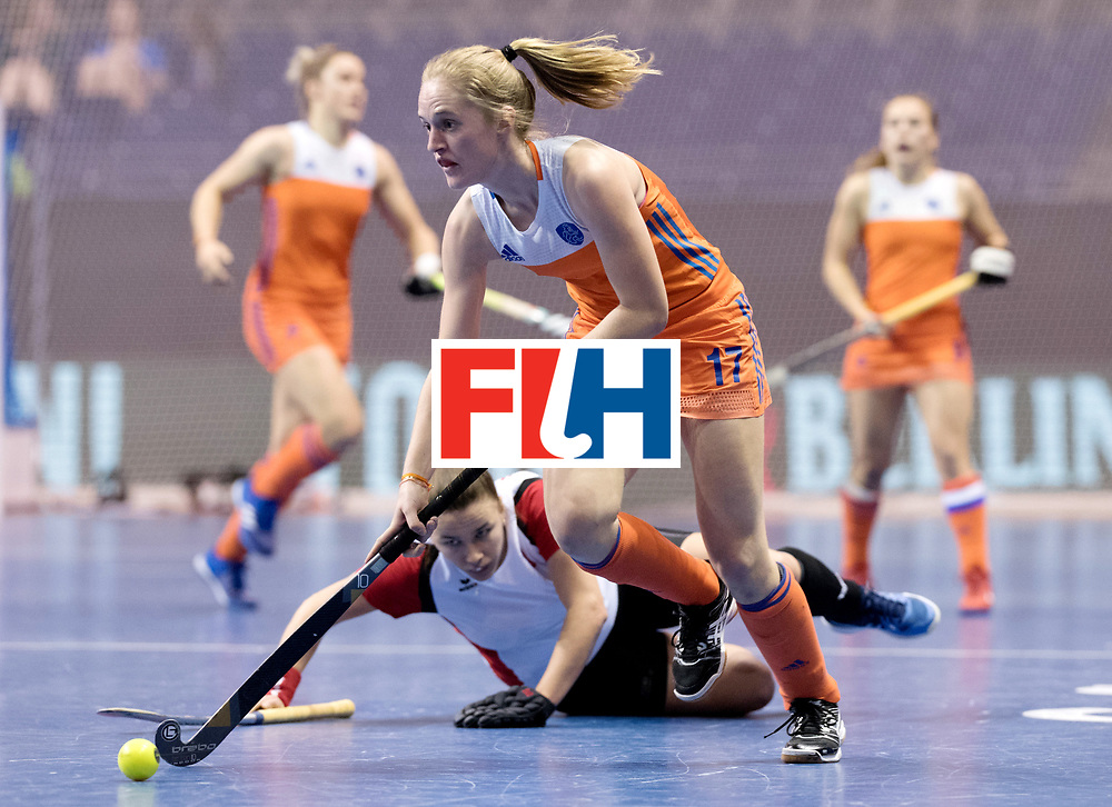 BERLIN - Indoor Hockey World Cup<br /> Women: Poland - Netherlands<br /> foto: Elin van Erk.<br /> WORLDSPORTPICS COPYRIGHT FRANK UIJLENBROEK
