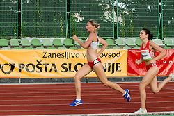 Paula Habovstiakova of Slovakia and Matea Matosevic of Croatia during the women's 1500m at athletics meeting Ljubljana Grand Prix 2010 for 5th Memorial Matic Sustersic and Patrik Cvetan on August 29, 2010, in Ljubljana, Slovenia. (Photo by Matic Klansek Velej / Sportida)