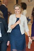 Koningin Maxima, als speciale pleitbezorger van de VN secretaris-generaal voor inclusieve financiering voor ontwikkeling (UNSGSA), tijdens de opening van de 26e bijeenkomst van de Egmont Groep. <br /> <br /> Queen Maxima, as a special advocate of the UN Secretary General for Inclusive Financing for Development (UNSGSA), at the opening of the 26th meeting of the Egmont Group.