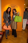 Trisha Simonon and Bella Freud. Tod's hosts Book signing with Dante Ferretti celebrating the launch of 'Ferretti,- The art of production design' by Dante Ferretti. tod's, Old Bond St. 19 April 2005.  ONE TIME USE ONLY - DO NOT ARCHIVE  © Copyright Photograph by Dafydd Jones 66 Stockwell Park Rd. London SW9 0DA Tel 020 7733 0108 www.dafjones.com