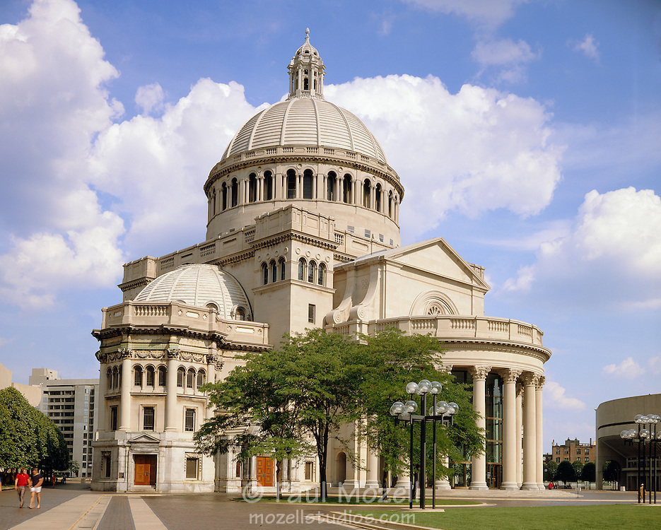 The First Church of Christ, Scientist in Boston, also known as the Mother Church, is the world headquarters of the Christian Science faith, founded in 1875 by Mary Baker Eddy.