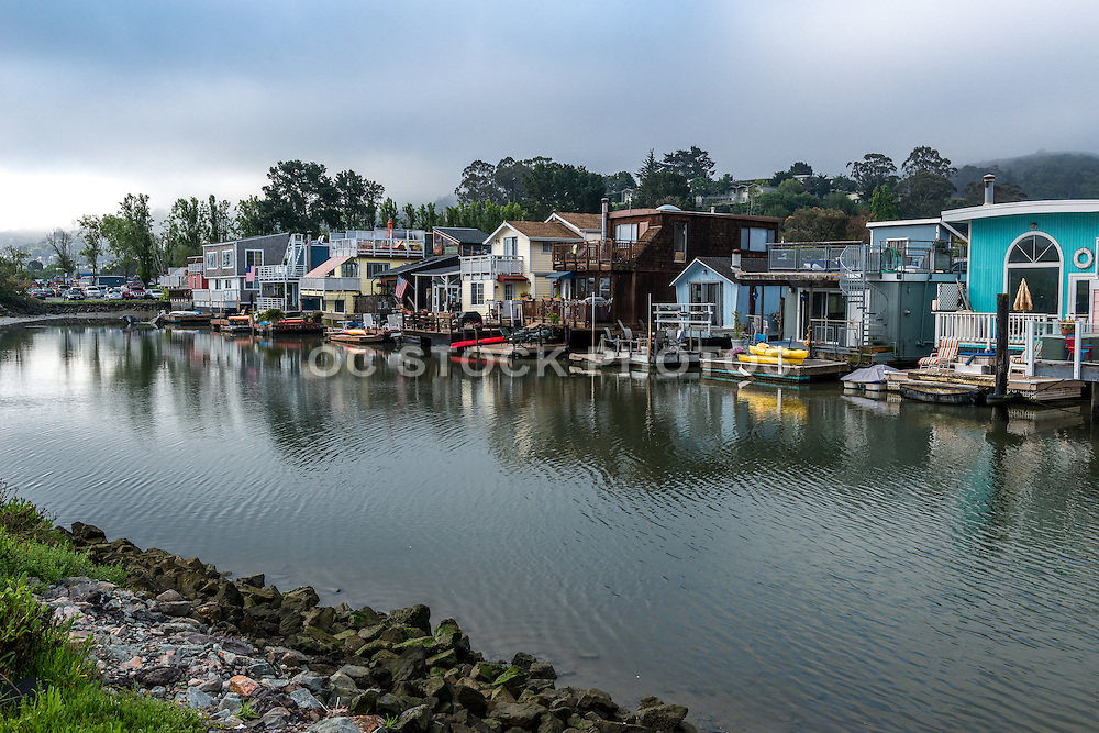 Houseboat Community in Galilee Harbor Sausalito San Francisco