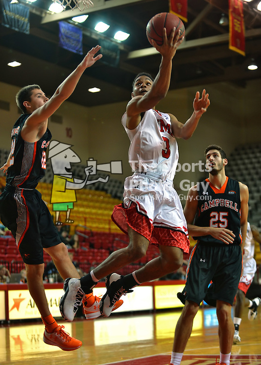 NCAA Men's Basketball - Campbell reverses early deficit, defeats VMI 67-53