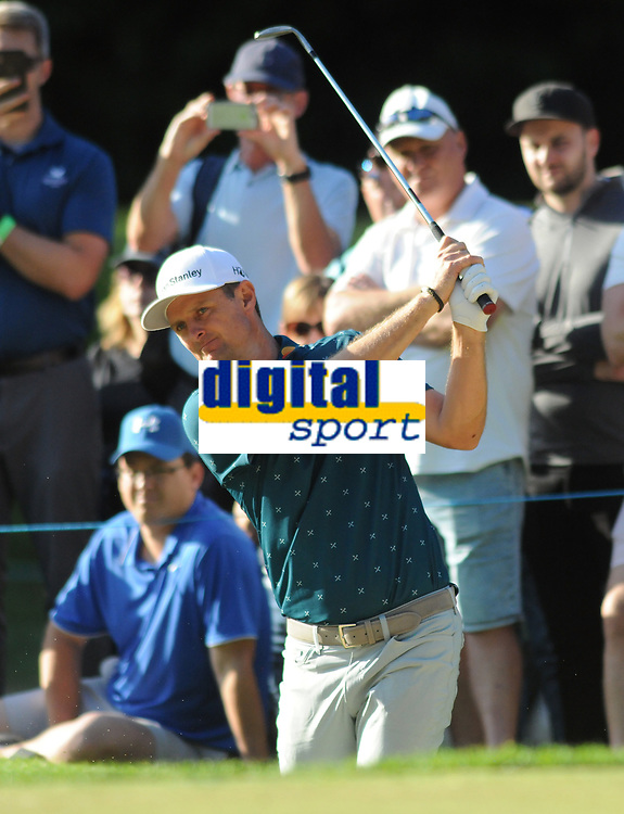 Golf - 2019 BMW PGA Championship - Thursday, First Round<br /> <br /> Justin Rose of England , at the West Course, Wentworth Golf Club.<br /> <br /> COLORSPORT/ANDREW COWIE