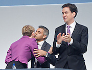 Labour Annual Conference<br /> at the Echo Arena &amp; BT Convention Centre, Liverpool, Great Britain <br /> 25th to 28th September 2011 <br /> <br /> Yvette Cooper<br /> <br /> Sadiq Khan <br /> <br /> Rt Hon Ed Miliband MP <br /> Leader of the Labour Party <br /> Member of Parliament<br /> for Doncaster North<br /> <br /> Photograph by Elliott Franks