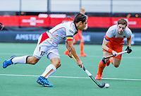 Den Bosch  - Thomas Briels (Belgie)    tijdens   de Pro League hockeywedstrijd heren, Nederland-Belgie (4-3).    COPYRIGHT KOEN SUYK