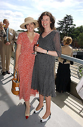 Left to right, KIMBERLEY QUINN and SUSAN FARMER at the King George VI and The Queen Elizabeth Diamond Stakes sponsored by De Beers for the 35th year held at Ascot Racecourse, Berkshire on July 29th 2006.    De Beers hosted a lunch before the races for about 250 people.<br /><br />NON EXCLUSIVE - WORLD RIGHTS