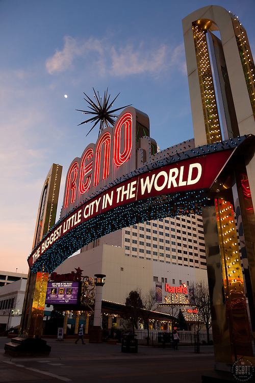"""""""Reno Arch 1"""" - Photography of the Biggest Little City in the World Reno Arch in Downtown Reno, Nevada."""