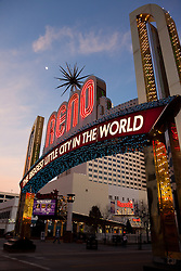 """Reno Arch 1"" - Photography of the Biggest Little City in the World Reno Arch in Downtown Reno, Nevada."