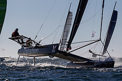 2nd March 2016. Fremantle, WA. World Match Racing Tour.  Keith Swinton, Black Swan Racing.