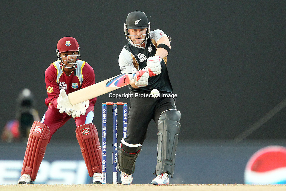 Brendon McCullum during the ICC World Twenty20 Super Eights match between The West Indies and New Zealand held at the  Pallekele Stadium in Kandy, Sri Lanka on the 1st October 2012<br /> <br /> Photo by Ron Gaunt/SPORTZPICS/PHOTOSPORT