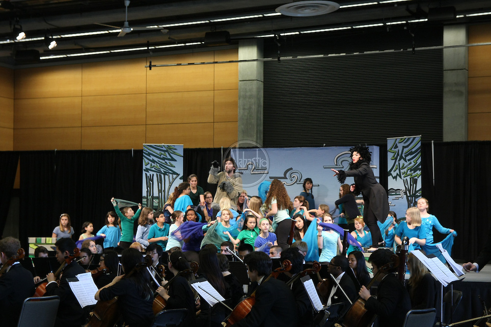 """Seattle Opera's Earth Day performance of """"Rushing Upriver"""" featuring Seattle Youth Symphony, Seattle Opera soloists and Youth Chorus."""