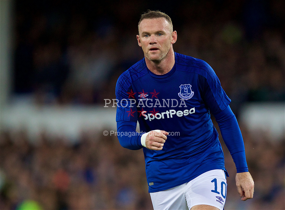 LIVERPOOL, ENGLAND - Thursday, August 17, 2017: Everton's Wayne Rooney during the UEFA Europa League Play-Off 1st Leg match against HNK Hajduk Split at Goodison Park. (Pic by David Rawcliffe/Propaganda)