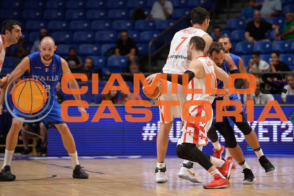 Duda Sanadze,Zaza Pachulia<br /> Nazionale Italiana Maschile Senior<br /> Eurobasket 2017 - Group Phase<br /> Georgia Italy Italia<br /> FIP 2017<br /> Tel Aviv, 06/09/2017<br /> Foto Ciamillo - Castoria/ Ivan Mancini