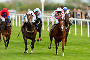 Powerful Dream ridden by Joason Watson and trained by Ronald Harris in the F45 Bath No Contract Required Handicap race. Spanish Star ridden by Liam Keniry and trained by Patrick Chamings in the F45 Bath No Contract Required Handicap race.  - Ryan Hiscott/JMP - 06/05/2019 - PR - Bath Racecourse- Bath, England - Kids Takeover Day - Monday 6th April 2019