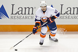 November 11, 2010; San Jose, CA, USA;  New York Islanders right wing Blake Comeau (57) skates with the puck against the San Jose Sharks during the second period at HP Pavilion. San Jose defeated New York 2-1 in shootouts. Mandatory Credit: Jason O. Watson / US PRESSWIRE
