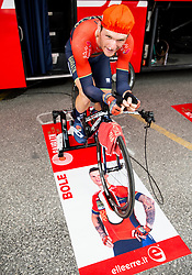 Grega Bole of Bahrain Merida at warming up prior to the 5th Time Trial Stage of 25th Tour de Slovenie 2018 cycling race between Trebnje and Novo mesto (25,5 km), on June 17, 2018 in  Slovenia. Photo by Vid Ponikvar / Sportida