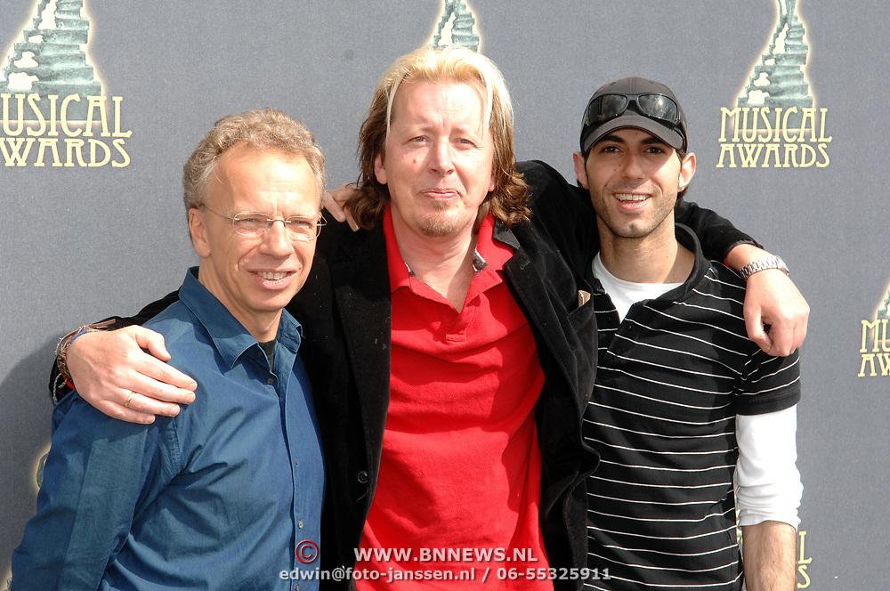 NLD/Amsterdam/20070509 - Nominatielunch Musicalawards 2007, Beste Mannelijke Bijrol in een Kleine Musical, Jan Elbertse, Jan Rot, Ara Halici